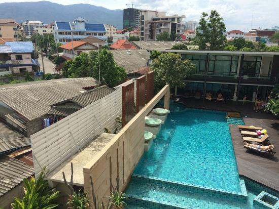 The Grand Napat: The nice pool next to the breakfast room and gym