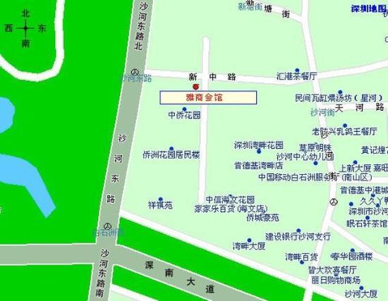 Ack Cyber Hotel Shenzhen : Map