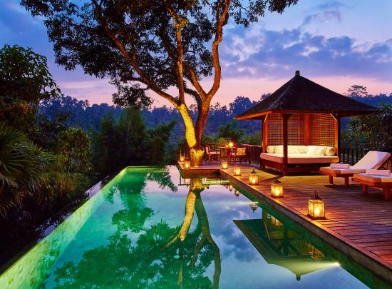 COMO Shambhala Estate: Sukma Taru - Pool By Night