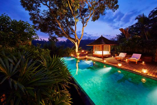 COMO Shambhala Estate: Sukma Taru - Pool By Night