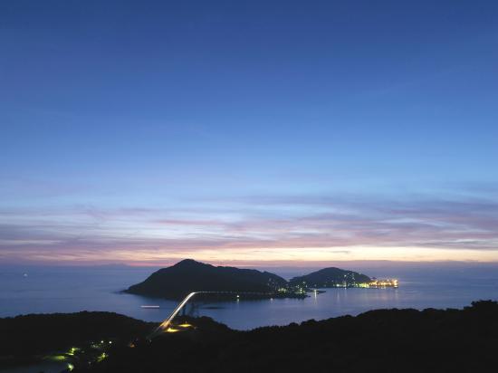 長崎温泉 やすらぎ伊王島, 上空から見た伊王島全景