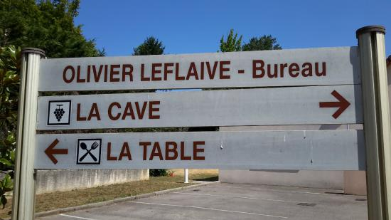 Olivier Leflaive : Signage for the cellar and the restaurant