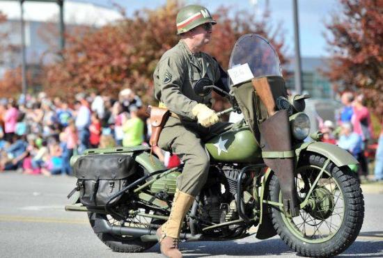 Huntsville, AL: Harley Davidson WLA motorcycle