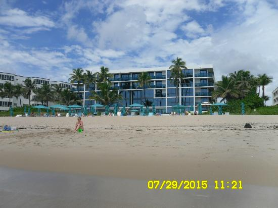 view of resort from ocean picture of tideline ocean. Black Bedroom Furniture Sets. Home Design Ideas