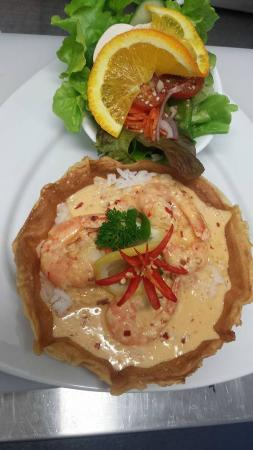 Raymond Terrace, Αυστραλία: Chilli Garlic Prawns In Crepe Basket