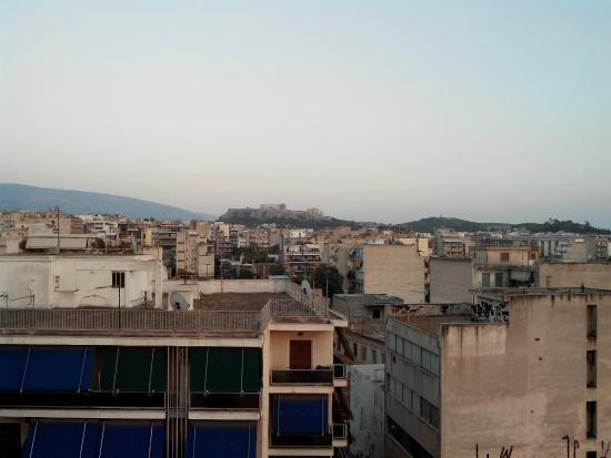 panorama terrazza sul tetto - Picture of Apollo Hotel, Athens ...