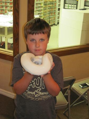 Reptile Discovery Center: Tyler with one of the snakes!