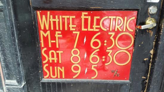 White Electric Coffee: Exterior