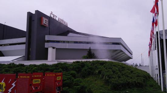 Ostravar Arena: in front of