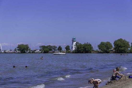 Lakeside Park Carousel: Lighthouse and Lake Ontario at Port Dalhousie