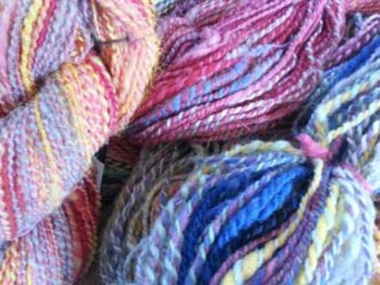 Stockholm, WI: Handspun yarn