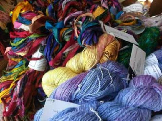 Black Cat Farmstead: Hand dyed and fair trade silk yarns