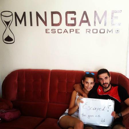 """Mindgame - Escape Rooms Pafos: Team: """"Το ζευγαράκι"""""""