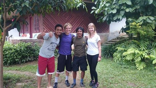 Bukit Lawang Jungle Trekking Tours - Day Tours: amy and beau,nice couple from UK,visited us in july 2015,for 1 day trek