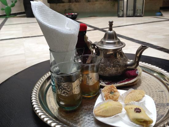 Riad Bamboo: We were greeted with this!