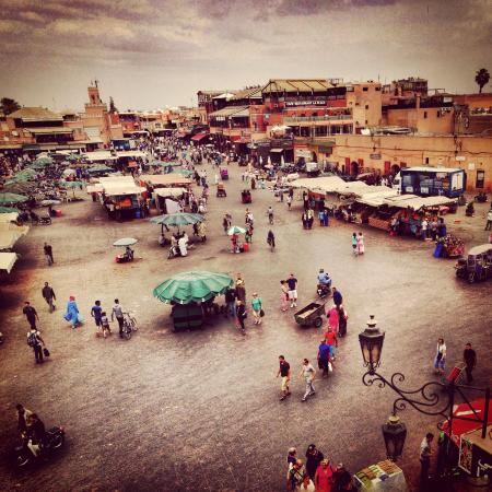 Riad Bamboo: They recommended this place to eat in the square, great views!