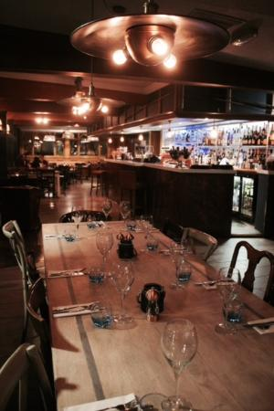 The Fishery Elstree: view from the restaurant into the bar area