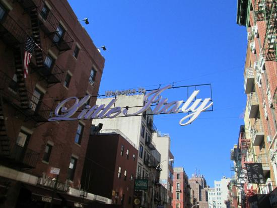 Free Tours by Foot: Little Italy sign