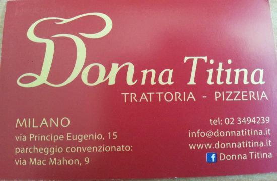 Biglietto da visita DONNA TITINA