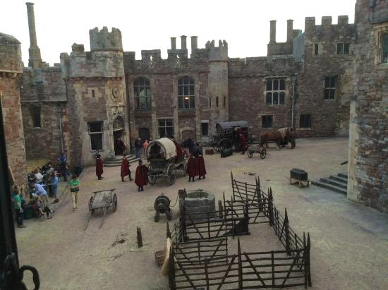 Berkeley Castle: Inner Bailey - filming for BBC2's Wolf Hall