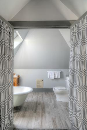 The loft suite bathroom at The Hotel Portsmouth.