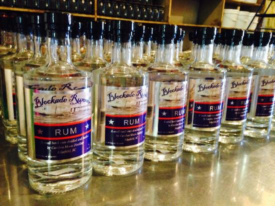 Carolina Moon Distillery: Blockade Runner Rum on the shelf