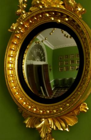 Homewood Museum: Reception Room in Convex Mirror
