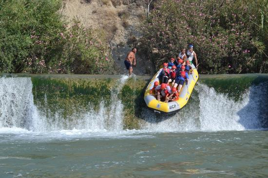Rafting Murcia: The larger drop