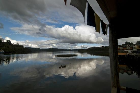 Palafito Waiwen: Desde la terraza