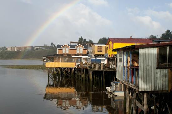 Palafito Waiwen: Vista del Hostal