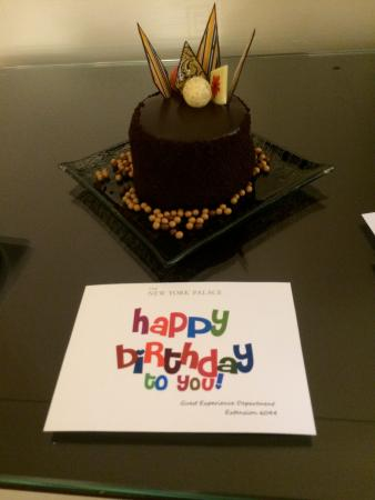 The cake left in my from room to celebrate my birthday