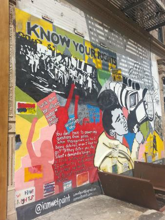 Free Tours by Foot: 'Know your rights' mural in Harlem