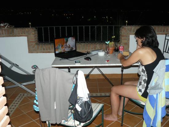 Hotel Villa Sur : terras
