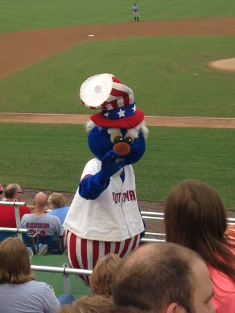 Pfitzner Stadium: Team mascot makes things fun