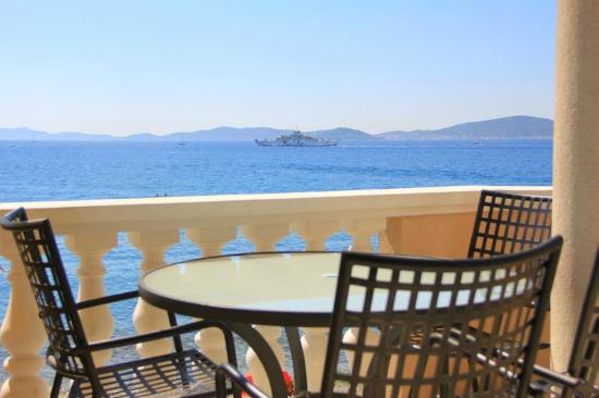 Villa Punta: Meerblick vom Balkon