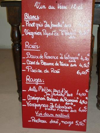 Vin sur Vin : La lavagna dei vini