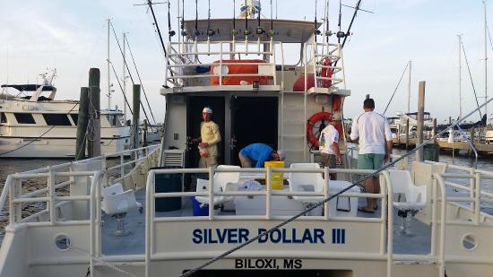 Biloxi Charter Fishing: Back of the boat before we departed...