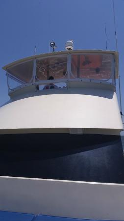 Biloxi Charter Fishing: Looking up at Captain Jay