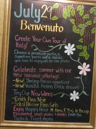 olive garden on the wall - Olive Garden Happy Hour