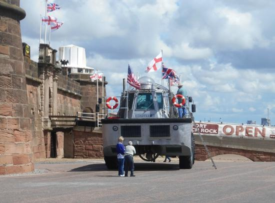 Fort Perch Rock: Landing craft at the Fort 29/07/2015