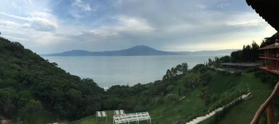 Monte Coxala Spa: Esta es la vista desde el Balcón de la suite