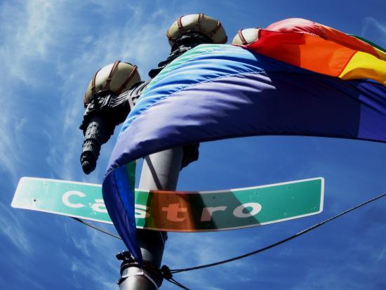 Cruisin' The Castro Walking Tours : Castro Street With Rainbow Banner
