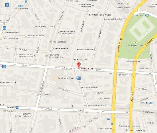 Archibald City: Map