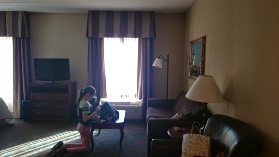 Hampton Inn & Suites Wells-Ogunquit: Junior suite, view from entry