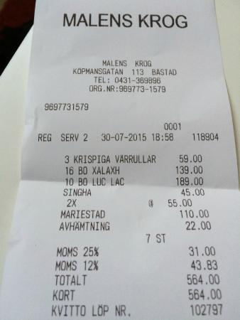 Malens Krog Bastad Restaurant Reviews Photos Phone Number