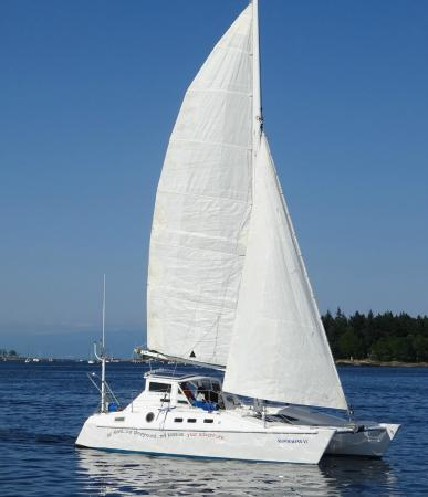 ‪‪Nanaimo‬, كندا: Shadowfax Catamaran 32 ft long, 18 ft wide‬