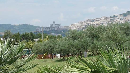 Il Casale di Monica: view of Assisi