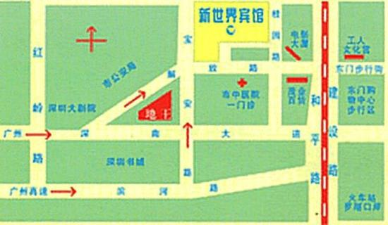 New World Hotel: Location map