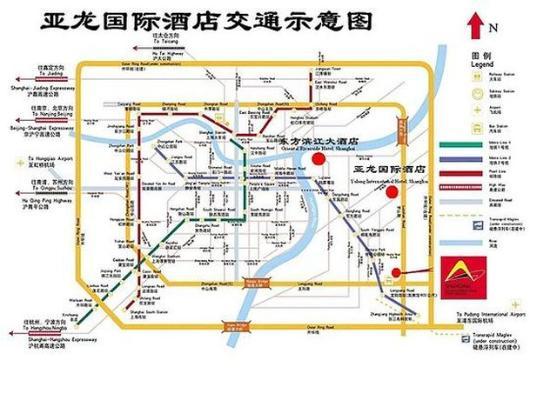 Wanhe Yalong International Hotel Shanghai: Map