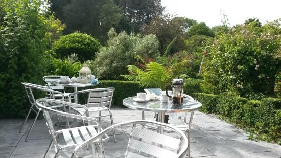 Kilmokea Gardens: View from tea gardens